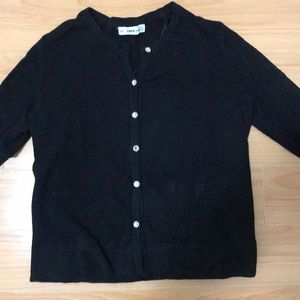 Zara knit sweater with jewelled buttons